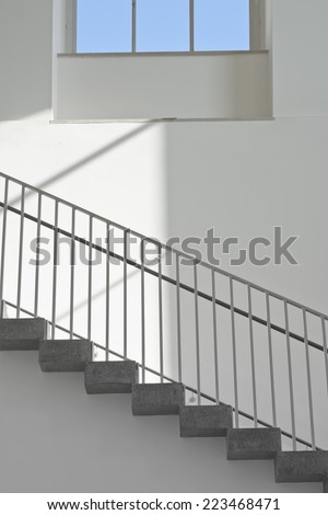 Stairs with Window as a Contemporary Architectural Element - stock photo