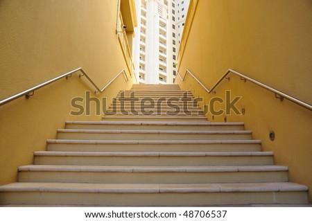Stairway in Dubai, United Arab Emirates - stock photo