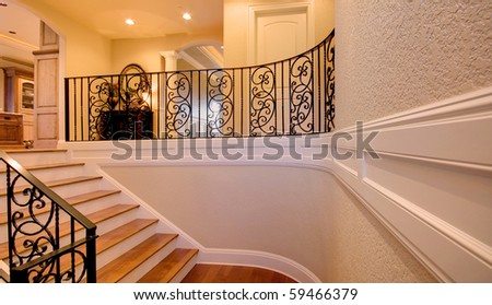 Stairway in Luxury Home - stock photo