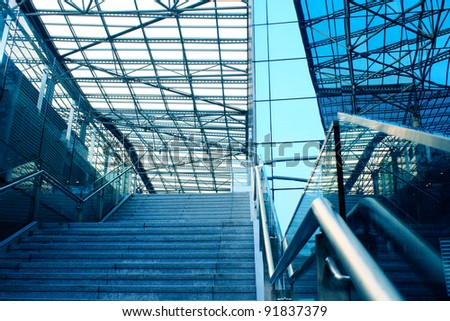 stairway in office building - stock photo