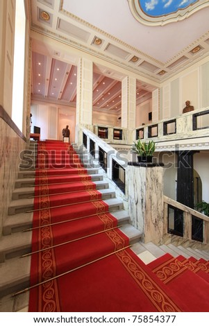 Stairway inside luxury palace