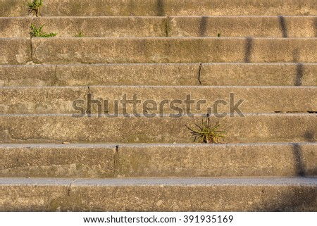 Stairway steps vintage. The shadow on the steps. Steps stairs background. - stock photo