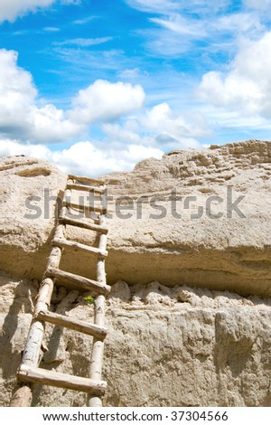 stairway to heaven in daylight - stock photo