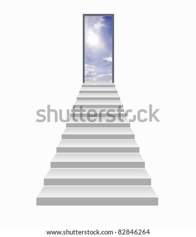 stairway to the sky - stock photo