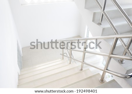 stairwell in a modern building - stock photo