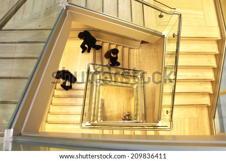 Stairwell in an office - stock photo
