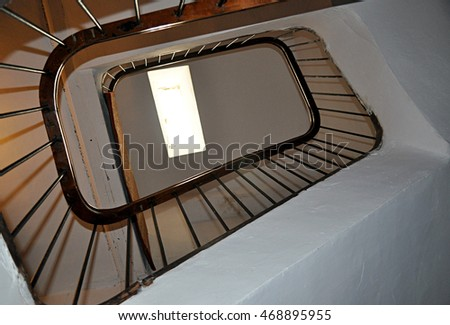 stairwell in old house