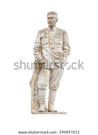 Stalin monument is situated in Gori, Georgia. Isolated on white background - stock photo