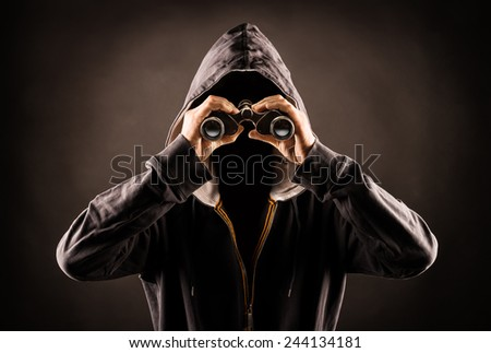 stalking - stock photo