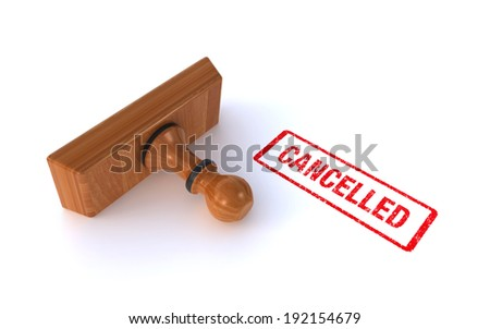 stamp cancelled - stock photo