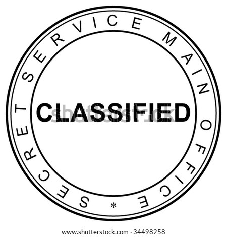 stamp classified - stock photo