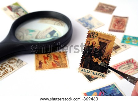 Stamp Collection - Focus on on the US stamp