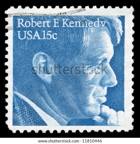 Stamp from 1979 with Robert F. Kennedy