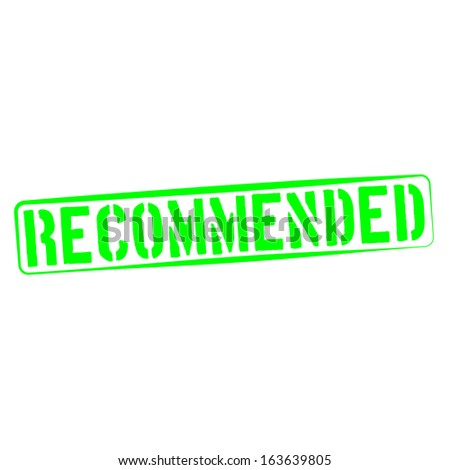Stamp Illustration of Recommended
