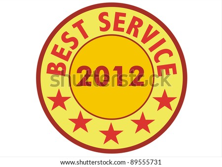 stamp marked with BEST SERVICE 2012