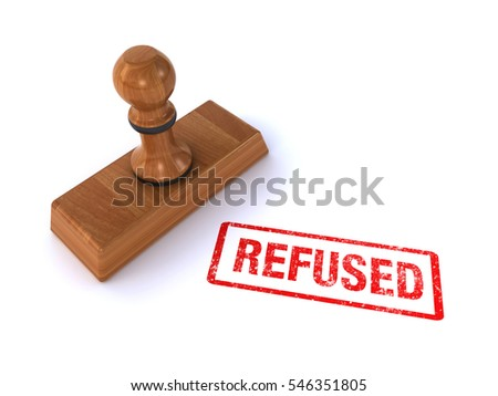 stamp refused (3d render)