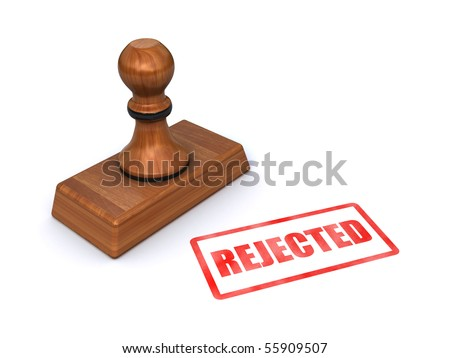 "stamp ""rejected"" - stock photo"