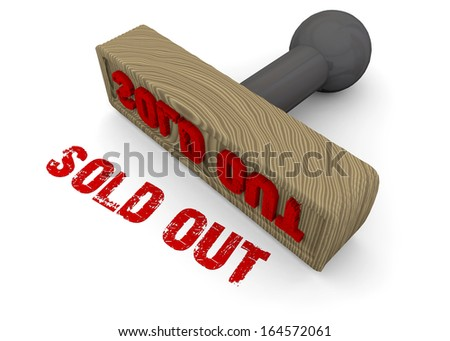 STAMP SOLD OUT - 3D