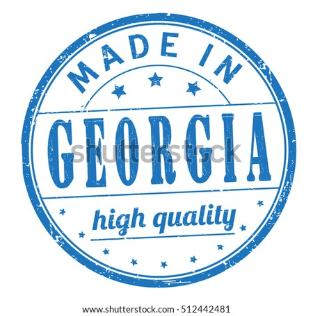 "stamp with text ""made in Georgia"" isolated on white background. Bitmap"