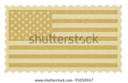 Stamp with the flag of the USA - stock photo