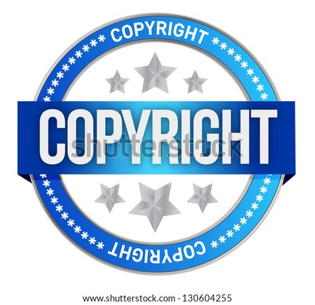 stamp with the text copyright illustration design over white - stock photo