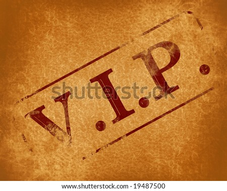 stamp with vip on an old background - stock photo