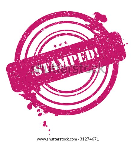 Stamped stamp isolated on white background with grunge - stock photo