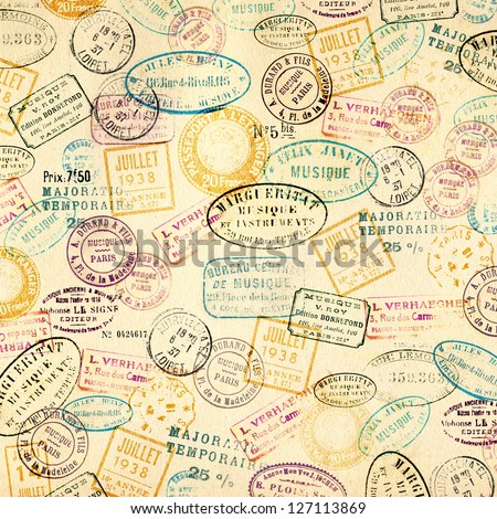 Stamps background - stock photo