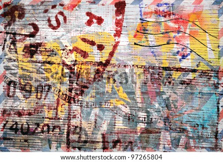 Stamps, Grunge colorful background, abstract design - stock photo