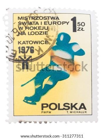 Stamps olympiadi 1976. Poland - stock photo