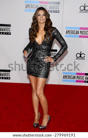 Stana Katic at the 2010 American Music Awards held at the Nokia Theatre L.A. Live in Los Angeles on November 21, 2010. - stock photo