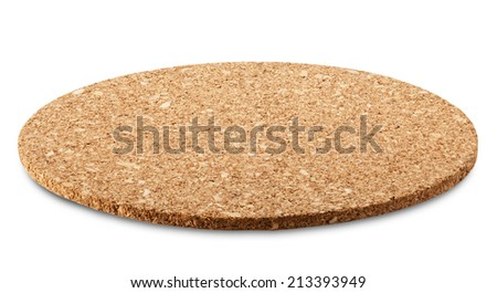 Stand for a hot cup of cork wood. Clipping Path