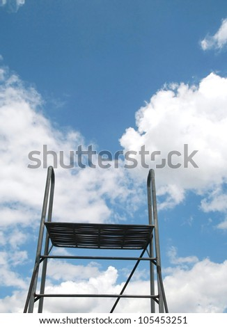stand for dive on sky - stock photo