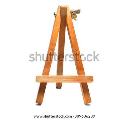 Stand for painting isolated on white background