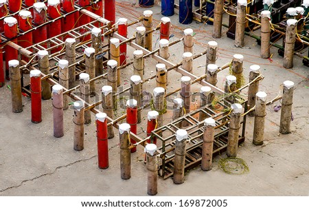 Stand of firework - stock photo