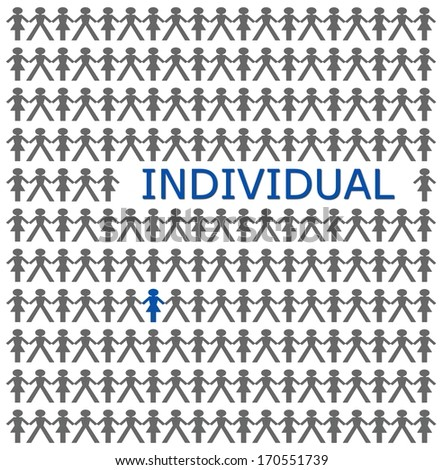 Stand out from the crowd, be individual  - stock photo