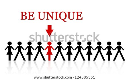 stand out from the crowd, be unique - stock photo