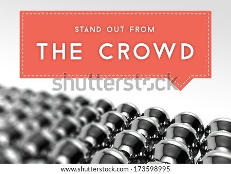 Stand out from the crowd business individuality concept - stock photo