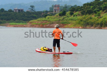 Stand Up Paddle Boarding - Bac Giang, Viet Nam 2016
