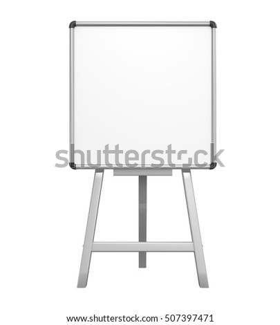 Stand Whiteboard. 3D rendering