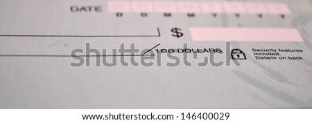 Standard bank check - stock photo