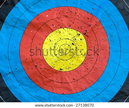 Standard colorful target useful for background - stock photo