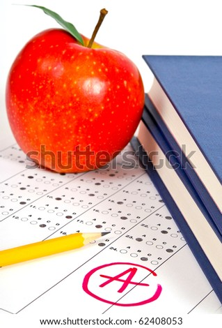 Standardized quiz or test score sheet - stock photo