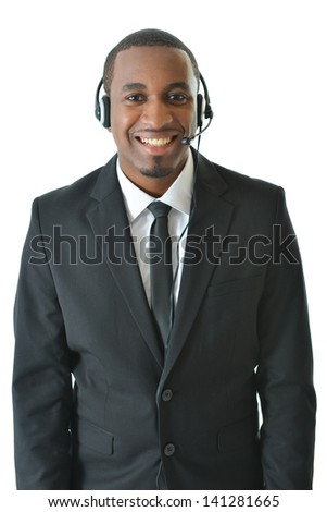 Standing customer service representative - stock photo