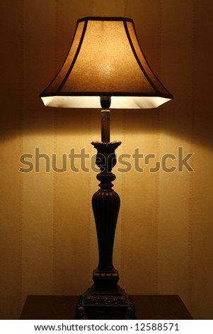 Standing lamp in a living room