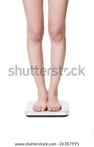 Standing on a weight-scale