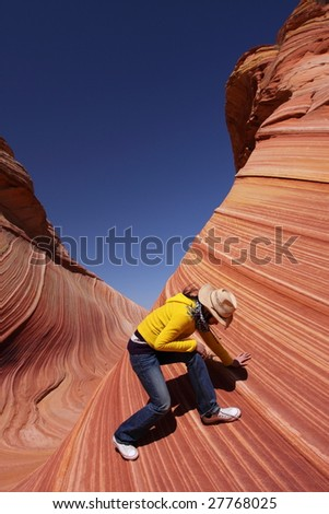 Standing on the Wave - stock photo
