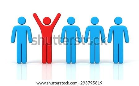 standing out - stock photo