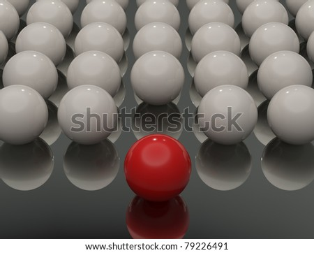 standing out from the crowd - stock photo