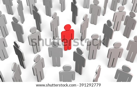 Standing Out from the Crowd. Available in high-resolution and several sizes to fit the needs of your project.  - stock photo